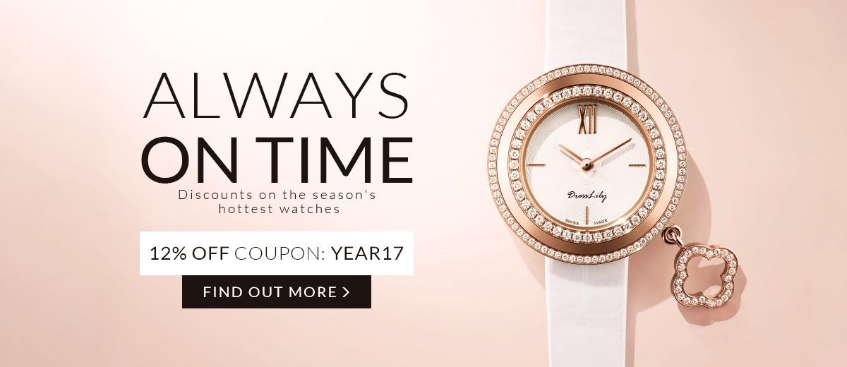 Always On Time: and 12% OFF Coupon