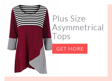 Plus Size Asymmetrical Tops