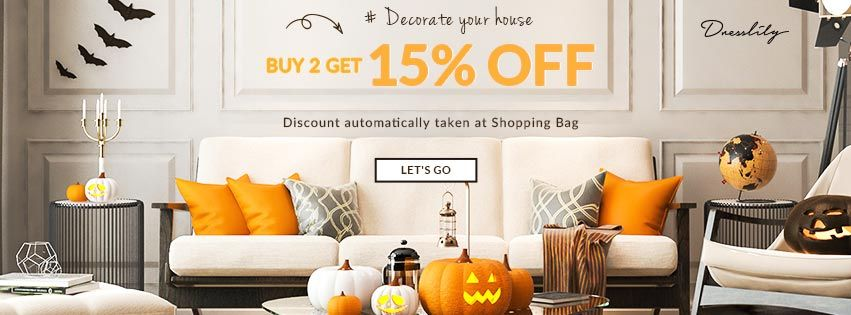 Decorate your house,buy 2 get 15% off! promotion